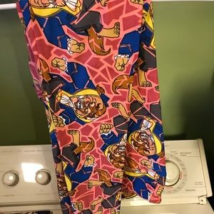 TC lularoe Disney beast leggings